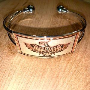 Alaskan Native   Silver/copper Tone Bracelet